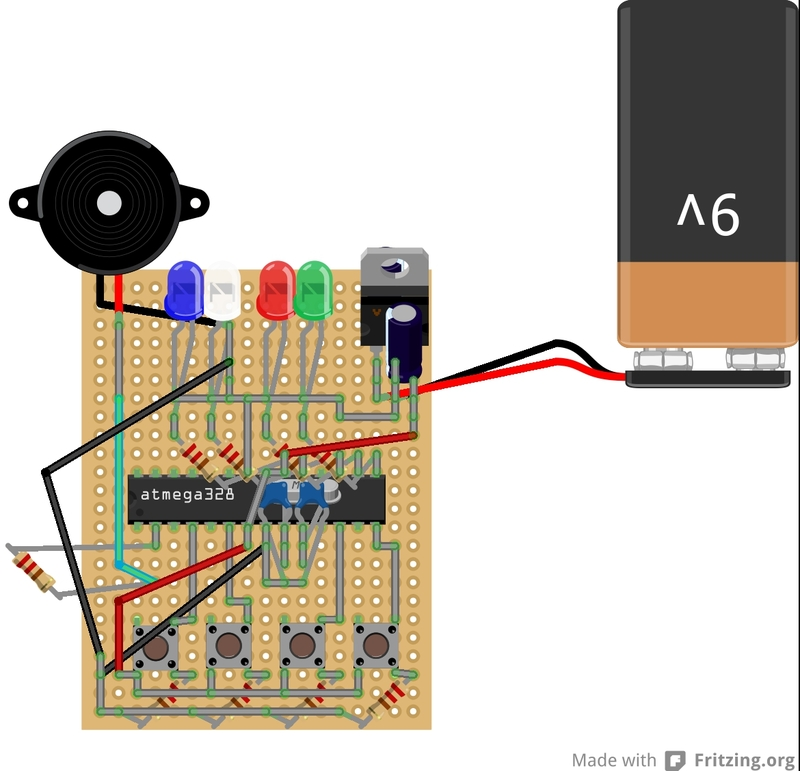 Arduino Based Memory Game - PCB