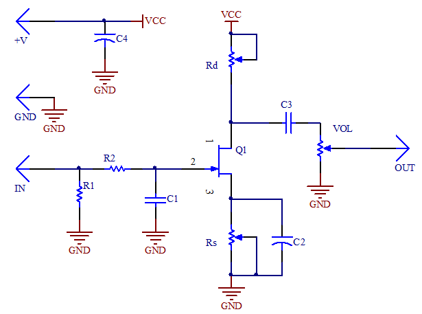 JFET preamp on