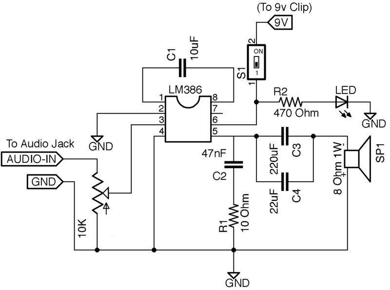 Mini Guitar Amp Schematic - Wiring Diagram Home