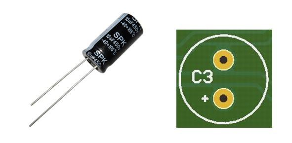 Which leg of a capacitor is positive