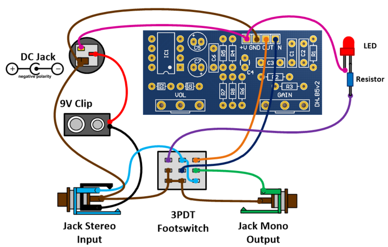 3pdt Wiring Pedal - Wiring Diagrams on